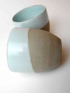 Espresso cups grey with mint set of 2.