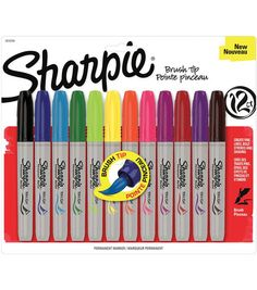 Sharpie Brush Tip Markers 12/Pkg-