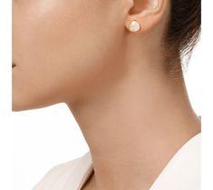 Monica Vinader - Gold Vermeil Siren Stud Earring - Moonstone
