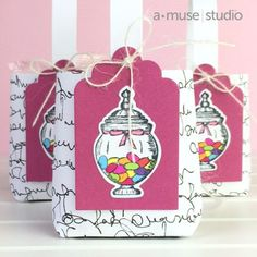 sweet shop + matching dies + classic tags = cute tutorial #amusestudio