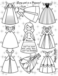coloring doll | paper dolls by cory