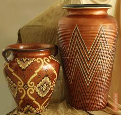 Rustic Brown Flower Pots
