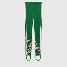 Embroidered jersey stirrup legging - Gucci Women's Pants & Shorts 471452X5S603234