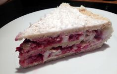 3-layer protein cake with raspberry filling. Great for bithdays.
