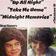 More like Take Me Home and keep me Up All Night so we can make Midnight Memories if you know what i mean;)