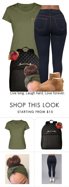 """""""chill attire"""" by trinityannetrinity ❤ liked on Polyvore featuring Fjällräven, Betsey Johnson and UGG"""