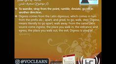 کلمه digress از کتاب Verbal Advantage – درس ۱