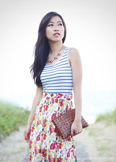 ExtraPetite.com - Summer Style with Caress: Playful Prints - love Maxi for a petite that is fitted