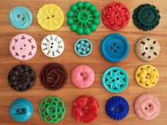 colourful vintage buttons.  so fun.  I have some that resemble these!