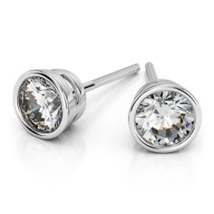 Bezel Diamond Stud Earrings in Platinum (2 ctw) http://www.brilliance.com/earrings/bezel-diamond-stud-earrings-platinum-2-ctw