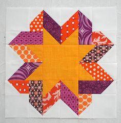 Ribbon Star Block Pattern | FaveQuilts.com