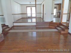 7524 Mcfrench Dr - for sale- love the hard wood sunken living room.