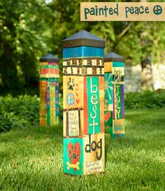 """This 20"""" Art Pole is a perfect way to honor your beloved family dog. It is a state-of-the-art reproduction of hand-painted and wood-burned cedar pole. The artwork is laminated onto a lightweight PVC pole for fade-resistance, durability, & reduced shipping cost. Easy to install. Hardware included...."""