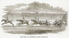 The Earl of March's Racing Carriage. Illustration from The Book of Days (W R Chambers, c 1870).