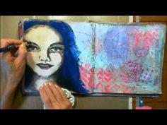 Christy Sobolewski  Art Geeks: Art Journal page with Texture and various mediums