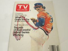 TV Guide Baseball Pitcher World Series Pitching Issue Oct.1981 Vintage
