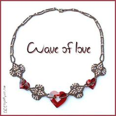 Free Valentine Necklace Tutorial featured in Bead-Patterns.com Newsletter!