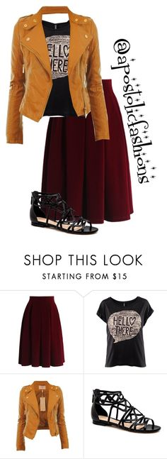 """Apostolic Fashions #1331"" by apostolicfashions ❤ liked on Polyvore featuring Chicwish, modestlykay and modestlywhit"