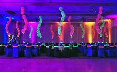 Resultado de imagem para neon party theme
