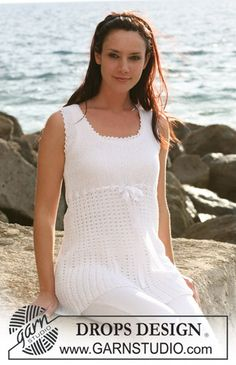 Tunic in garter st and lace pattern