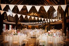 The Tithe Barn ready for an Autumn wedding. An Autumn wedding in the Orangery at Great Fosters. Juliet Mckee Photography at Great Fosters. An Autumn 2016 wedding. Great Fosters, Autumn Wedding, Brogues, Real Weddings, Wedding Flowers, Wedding Venues, Barn, Wedding Photography, Table Decorations