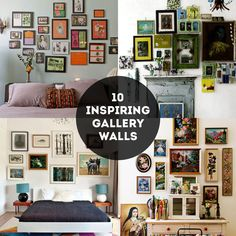 {SPACES: 10 gallery walls that inspire} | The Sweet Escape