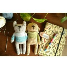 Amigurumi cat and bear patterns by Mongoreto