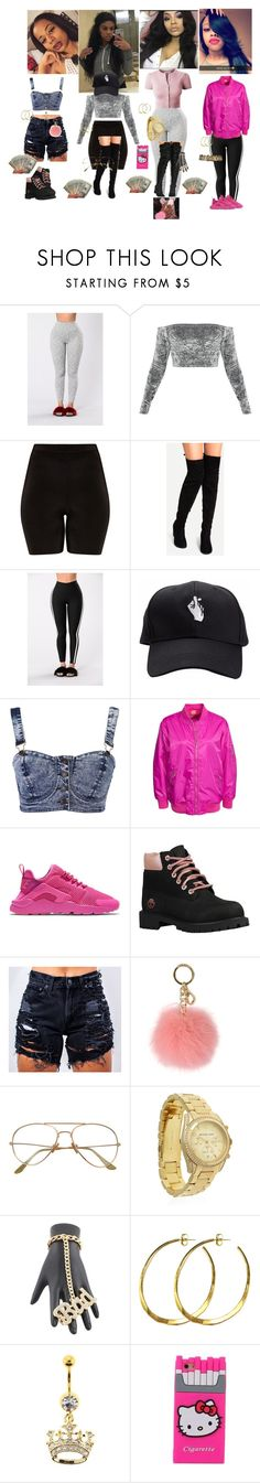 """""""Going to Hawaii Shopping Mall"""" by xglodollx ❤ liked on Polyvore featuring NIKE, Timberland, MICHAEL Michael Kors, Michael Kors, Rebecca Norman and Hello Kitty"""