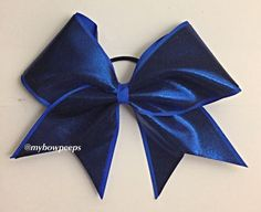 Royal blue solid cheer bow by MyBowPeeps on Etsy