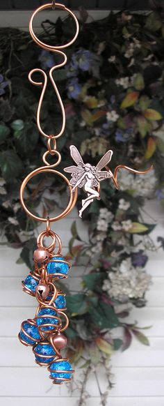 Fairy Copper and Glass Gypsy Wind Chimes