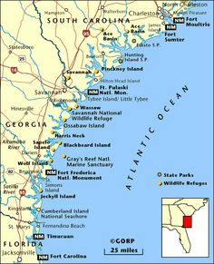 map of the lowcountry | Map of Low Country SC and GA
