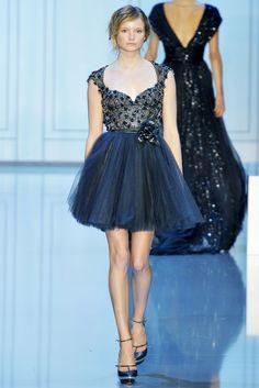 Elie Saab  Alta Moda Autunno Inverno 2011/2012 / Parigi. Blue tutu dress