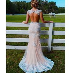 Elegant Prom Dresses, Mermaid Jewel Sweep Train Open Back Champagne Tulle Prom Dress with Applqiues Beading Shop for La Femme prom dresses. Elegant long designer gowns, sexy cocktail dresses, short semi-formal dresses, and party dresses. Pretty Prom Dresses, Prom Dresses 2018, Backless Prom Dresses, Grad Dresses, Beautiful Dresses, Prom Gowns, Wedding Dresses, Amazing Prom Dresses, Champagne Prom Dresses