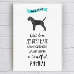 Personalised Dog Character Traits Print