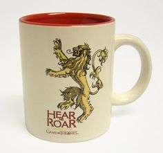 Lannister taza blanca roja ceramica - game of thrones - 9,95€