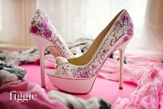 Romantic Pink Rose Wedding Shoes by Figgie | www.figgieshoes.com | info@figgieshoes.com