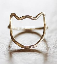 """A simple, sweet and delicate 5/8"""" open kitty ring in three different metal selections - yellow gold filled, rose gold filled or recycled sterling silver. You pick! In any color, this accessory is a fun and simple way to keep that furry friend with you at all times."""