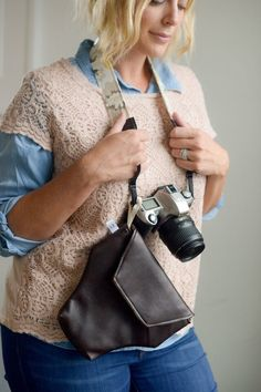 Best camera bag ever. This fitted, padded, soft leatherette is not only smart but great for any guy thats going places! Outside: Soft Leath...