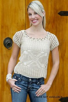 Crochetemoda: Top Bege de Crochet