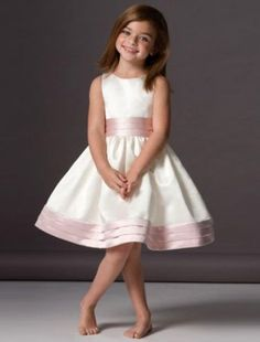 A-line Satin Knee-length Sleeveless Flower Girl Dresses (FG043) [200001798] - $129.99 : Wedding Dresses, Bridesmaid Dresses, Cheap Wedding Gowns