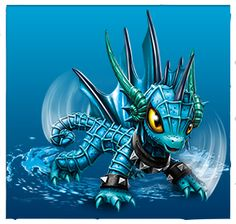 Echo is a water dragon who is one of the core Skylanders introduced in Skylanders: Trap Team. Echo may seem reserved but she can be fiesty when the time comes for battle. She can be rather noisy, not liking to do things quietly as she is a music lover. Monster High Birthday, Monster High Party, Ninja Turtle Birthday, Ninja Turtle Party, Frozen Party Games, Slumber Party Games, Carnival Birthday Parties, Skylanders Characters, Skylanders Party