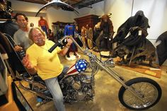 """This weekend, the gavel will fall at a Calabasas auction of the """"Captain America"""" chopper used in the filming of the 1969 movie """"Easy Rider."""""""