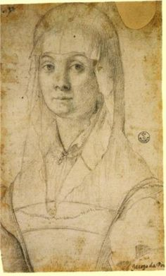 Study of a Woman, Possibly Maria Salviati by Jacomo Pontormo