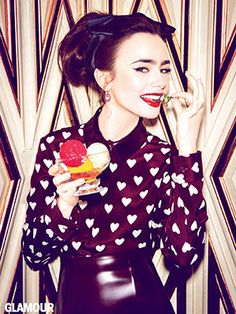 Lily Collins Gives Her Two Cents on Jennifer Lawrence, Karl Lagerfeld, and Her Famous Father