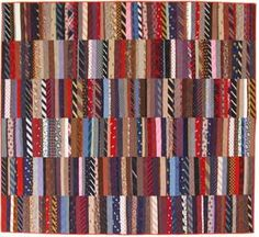 Husband Ties quilt by Denyse Schmidt - I think my dad has enough ties to make a quilt like this!