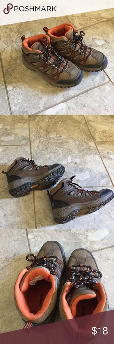 Boys hiking shoes Great, sturdy pair of boys hiking boots.  My son wore these only a couple times. Perfect condition! Cherokee Shoes Boots