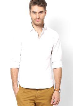 Rigo White Solid Shirt