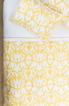 Copy: Great site for beautiful bedding / Yellow bedding / Crane & Canopy Decor, Dream Bedroom, Home Bedroom, Sweet Home, Beautiful Bedding, Yellow Duvet, Bedroom Decor, Yellow Bedding, Happy Bedding