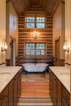 RemWhirl's A Cottage in the Pines - Bathroom Rustic Master Bathroom, Weekend House, My Dream Home, My House, Pine, House Plans, Cottage Ideas, Interior Design, Resorts