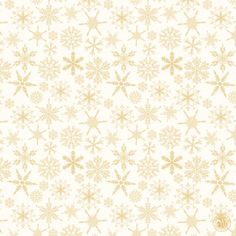 Elegant background with gold snowflakes Free Vector